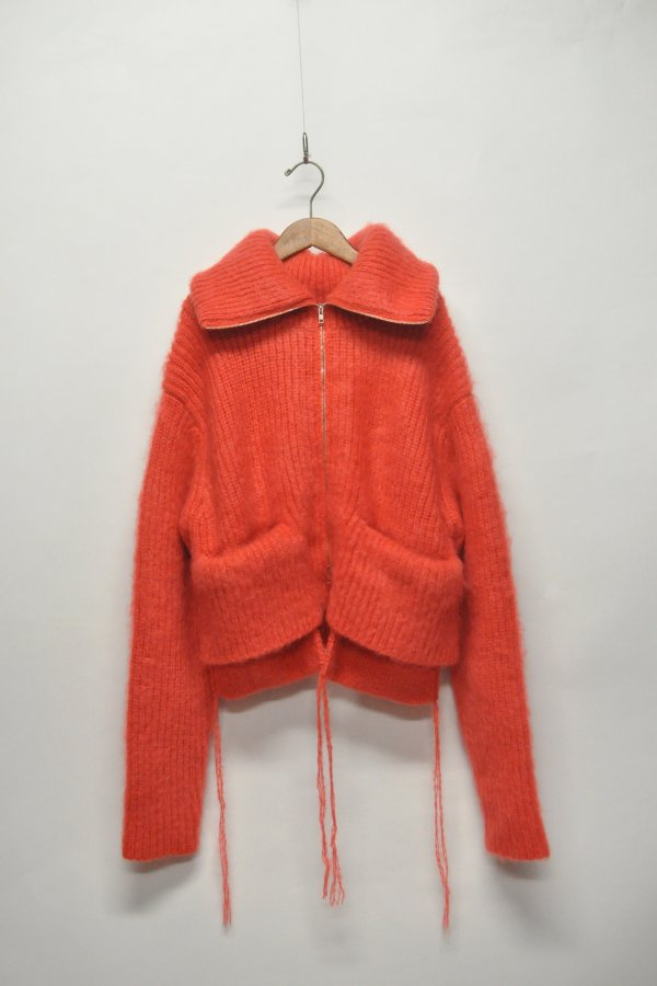 MOHAIR ZIP UP KNIT
