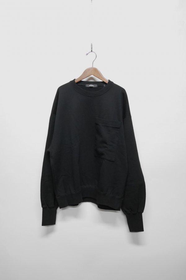 SWEATSHIRT IN A OVERSIZE FIT WITH LARGE RIB AND CHEST POCKET