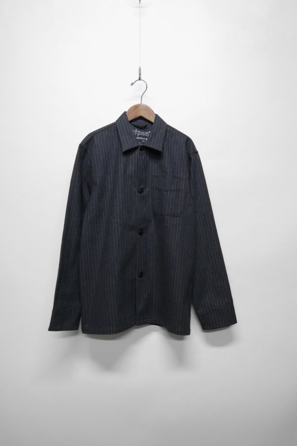 OVERSHIRT WITH CHESTPOCKET AND PINSTRIPES IN A HEAVY COTTON