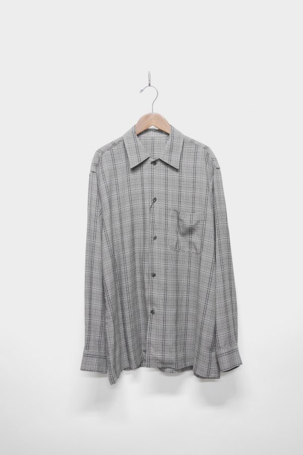 OPEN COLLAR L/S SHIRT