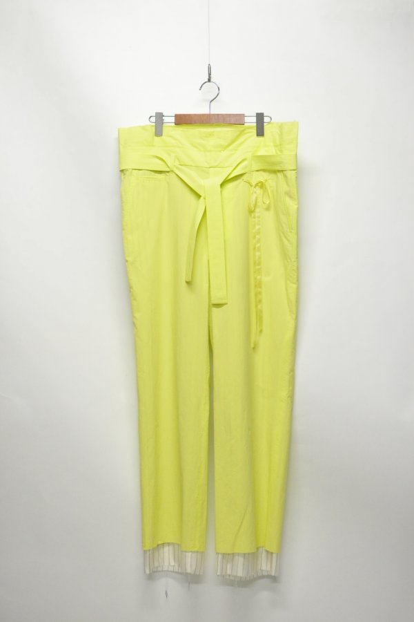 BELTED PANTS – YELLOW