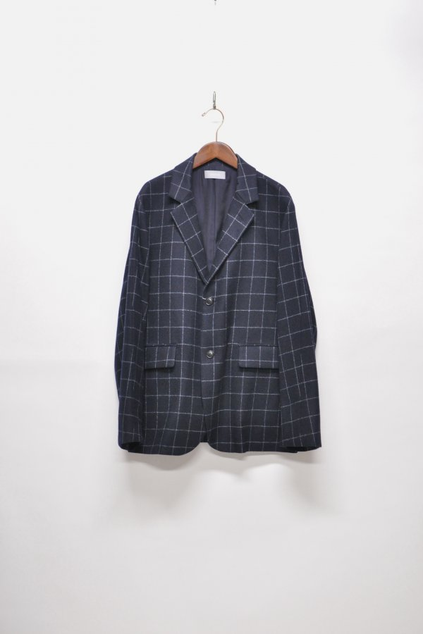 WOOL CHECK 2BUTTON JACKET