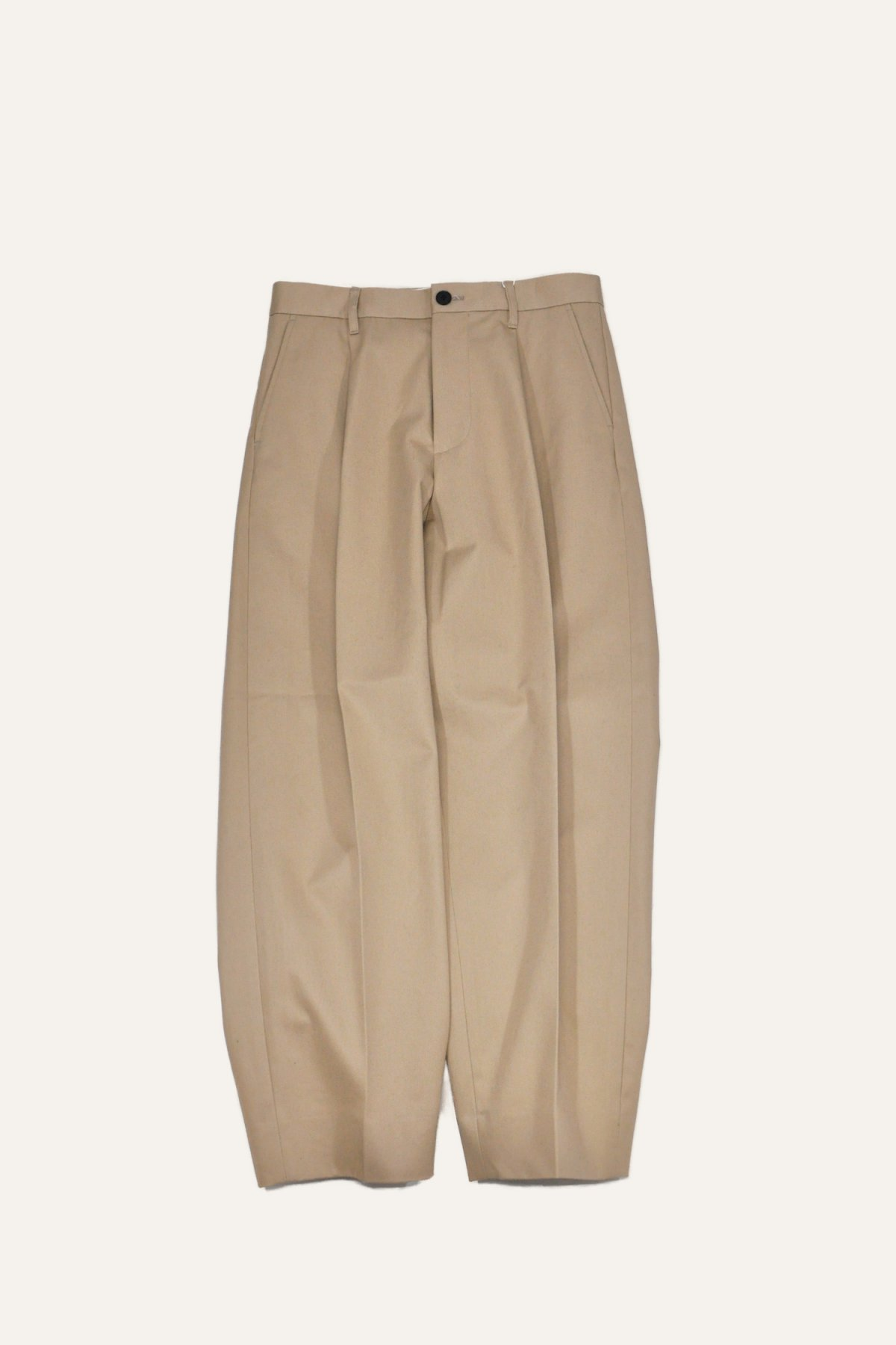 COTTON 1TUCK TROUSERS