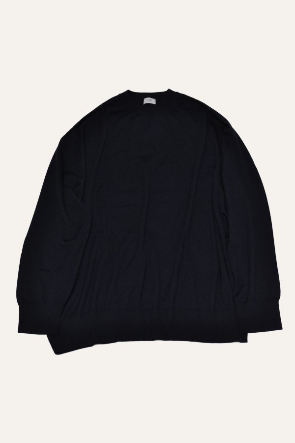 LONG SLEEVE CREW NECK OVER KNIT