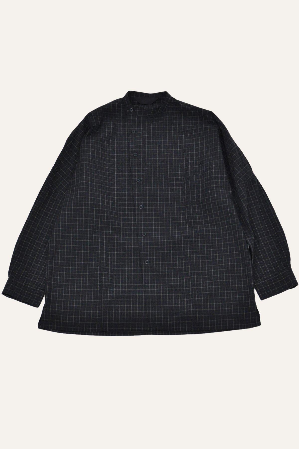 DOLMAN SLANT SHIRT – BLACK CHECK