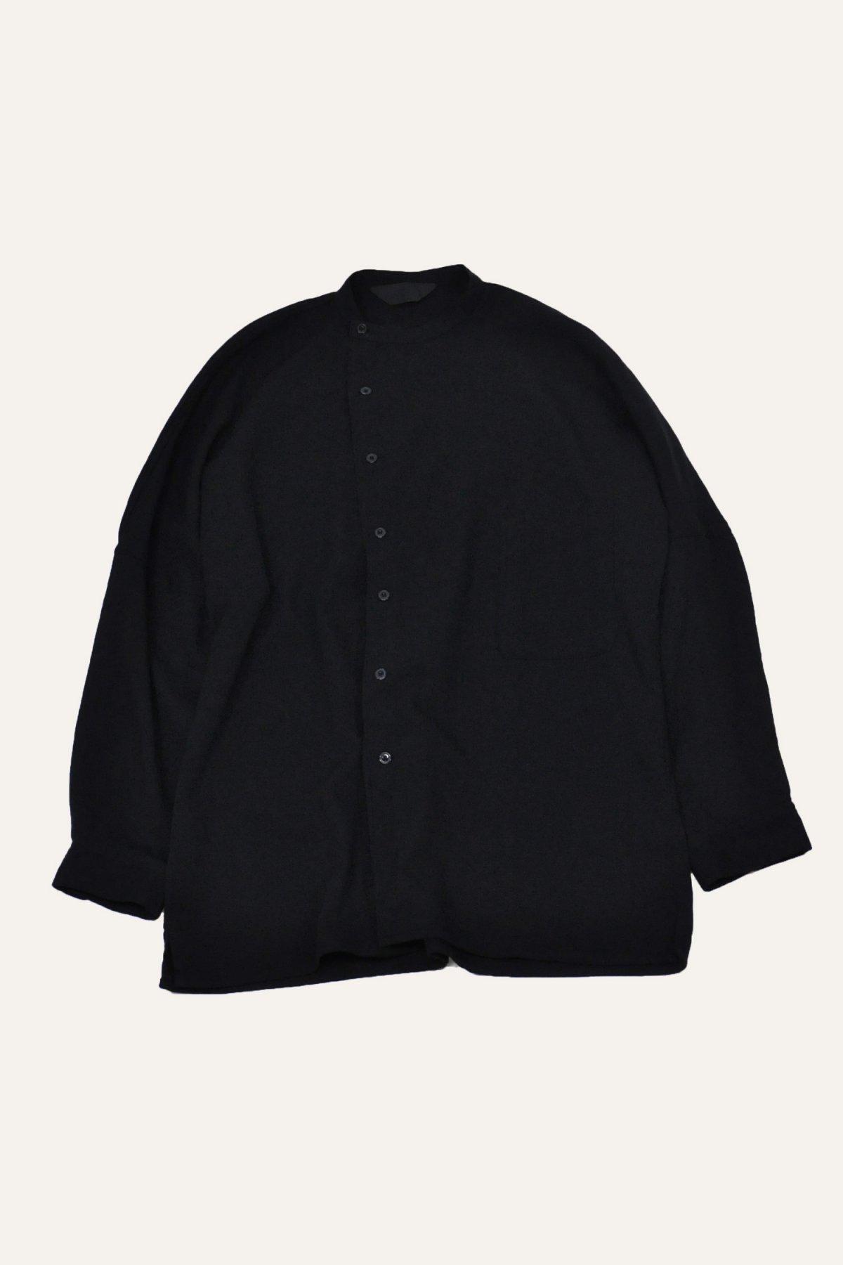 DOLMAN SLANT SHIRT – BLACK